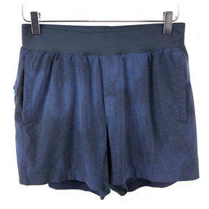 RARE Lululemon S T.H.E. Shorts Blue Herringbone EU